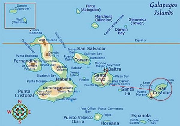 MAP OF GALAPAGOS I